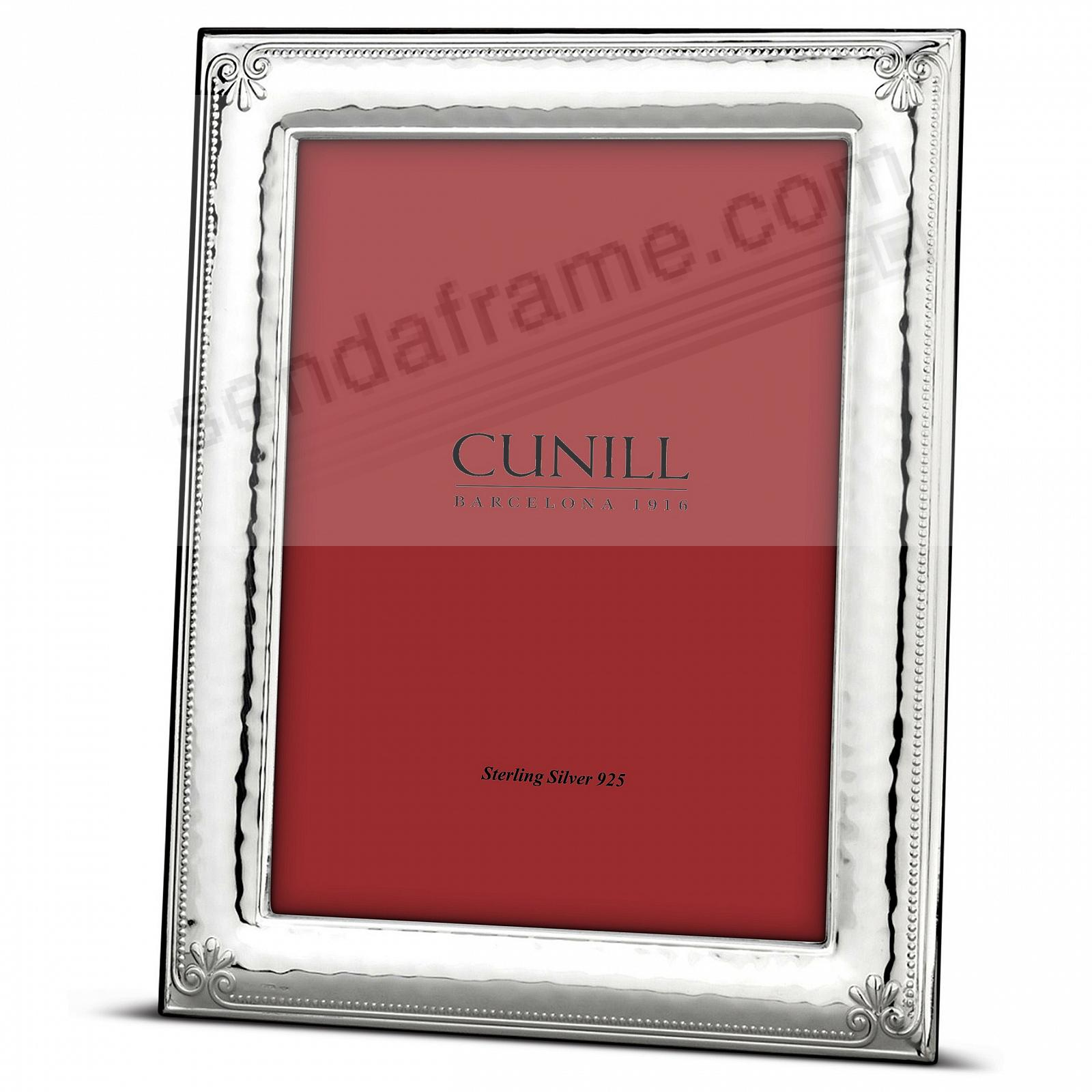 ORNAMENTAL Fine Sterling Silver 4x6 frame<br>by Cunill® Italy
