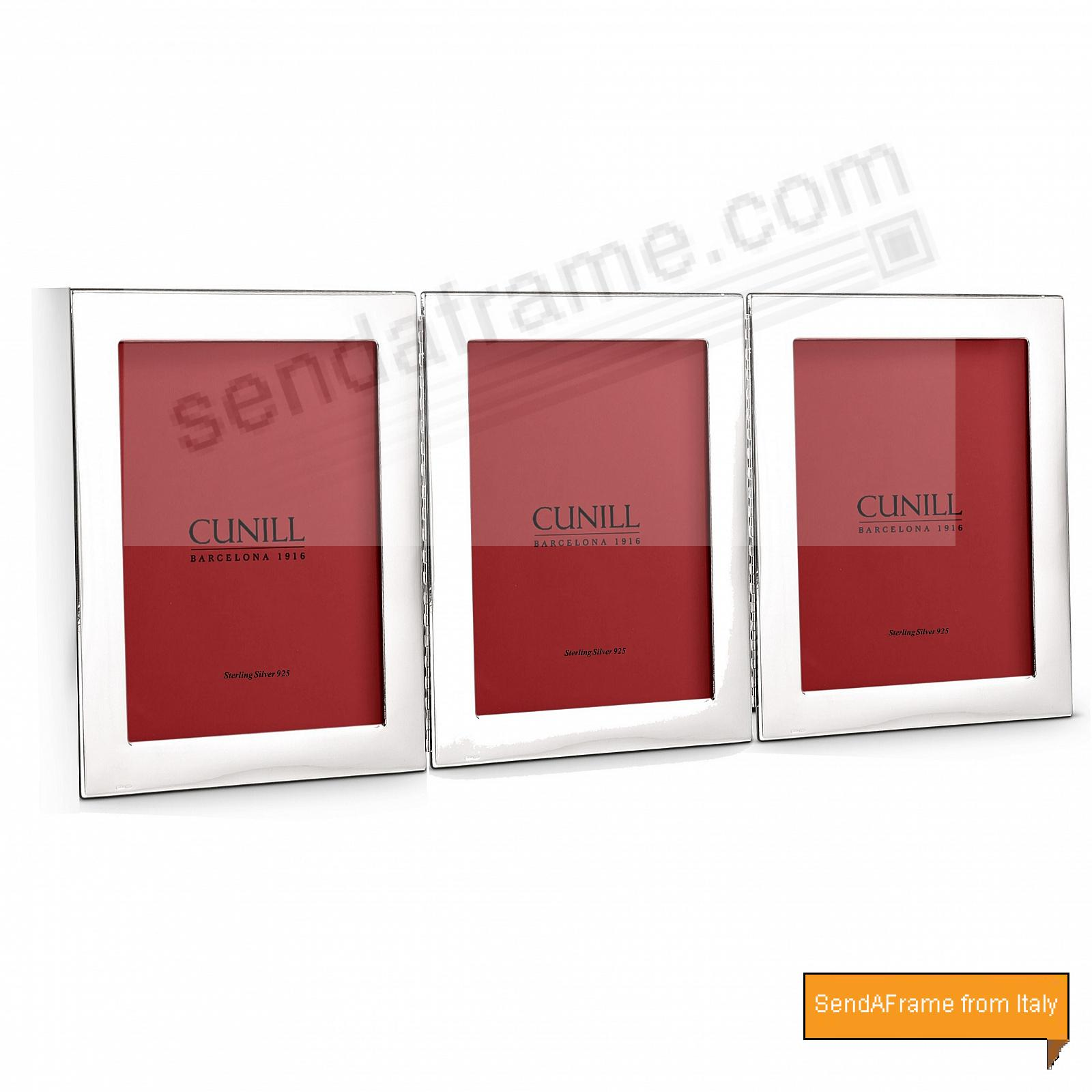 PLAIN Hinged Triple Fine Sterling frame<br>by Cunill®