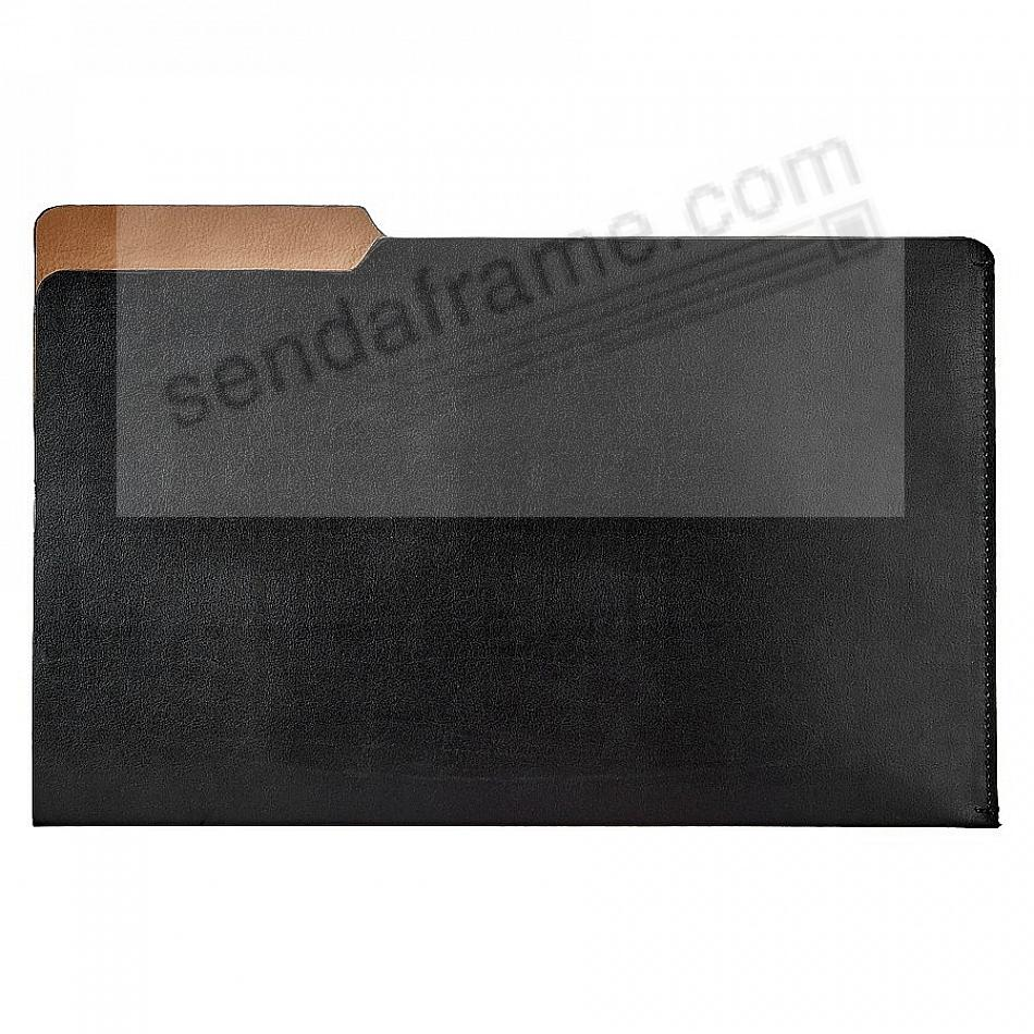 The LUCA LEGAL-Size File Folder BLACK/Brown by Graphic Image®