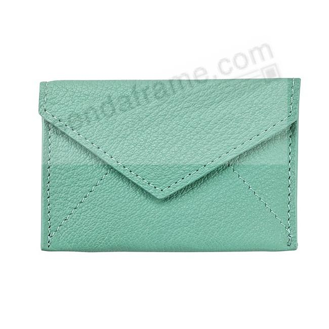 MINI ENVELOPE ROBINS-EGG-BLUE Leather by Graphic Image®