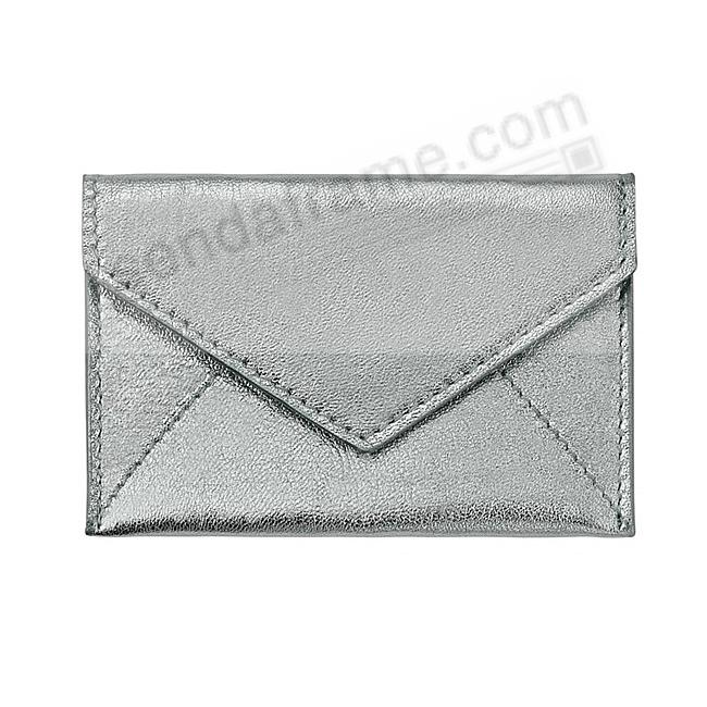 MINI ENVELOPE Metallic SILVER Leather by Graphic Image®