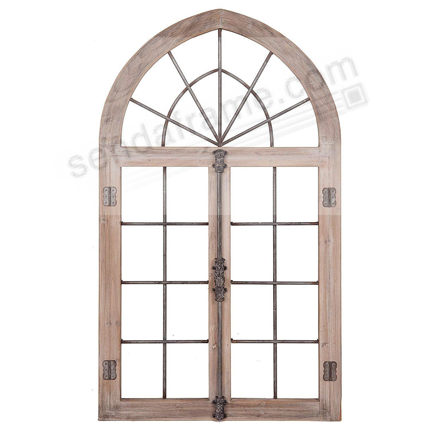 Gray Arched Cathedral Window Frame Wall Décor by NBG