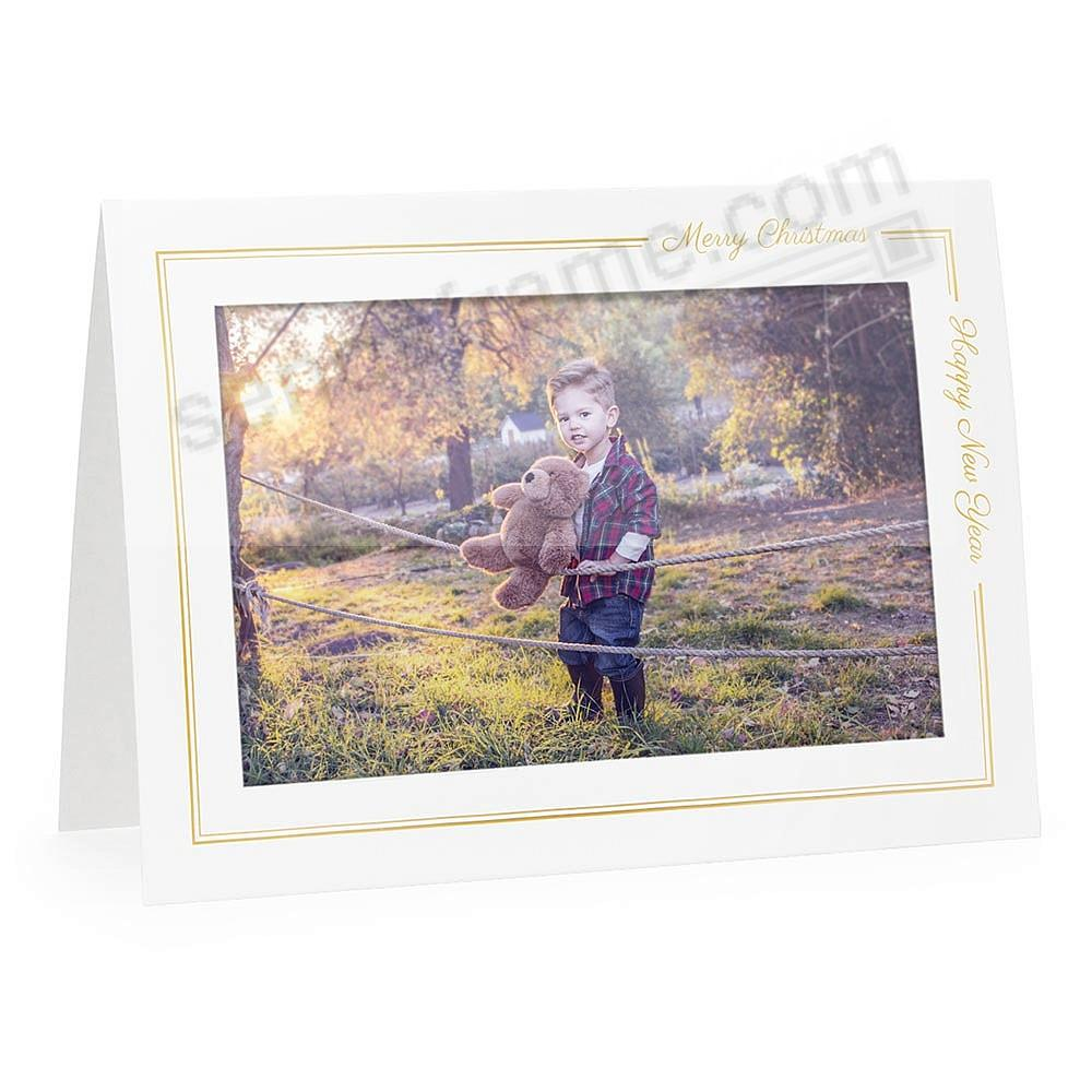 MERRY CHRISTMAS / HAPPY NEW YEAR<br>premium photo insert Holiday Card (sold in 10s)
