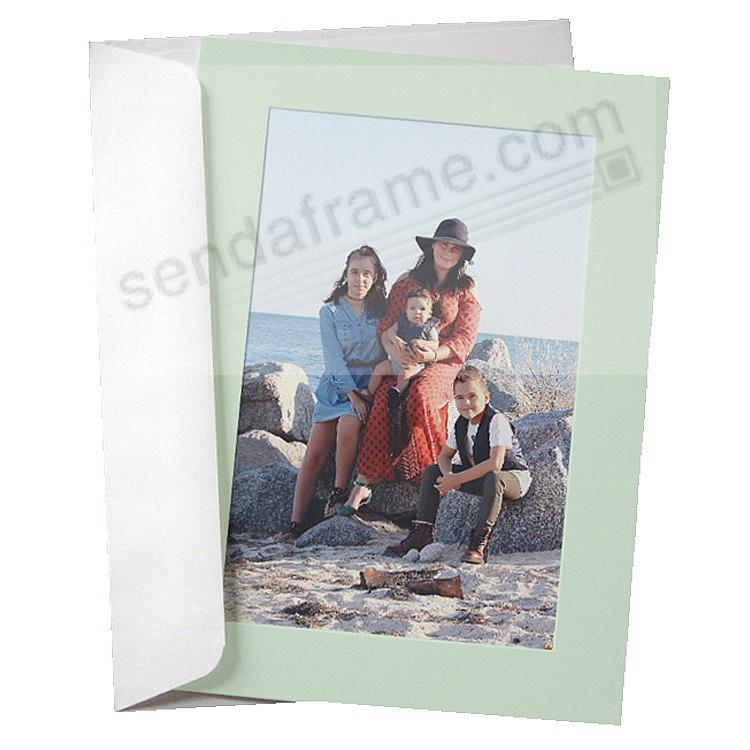 SIMPLICITY MINT-GREEN Photo Insert Card (sold in 10s)