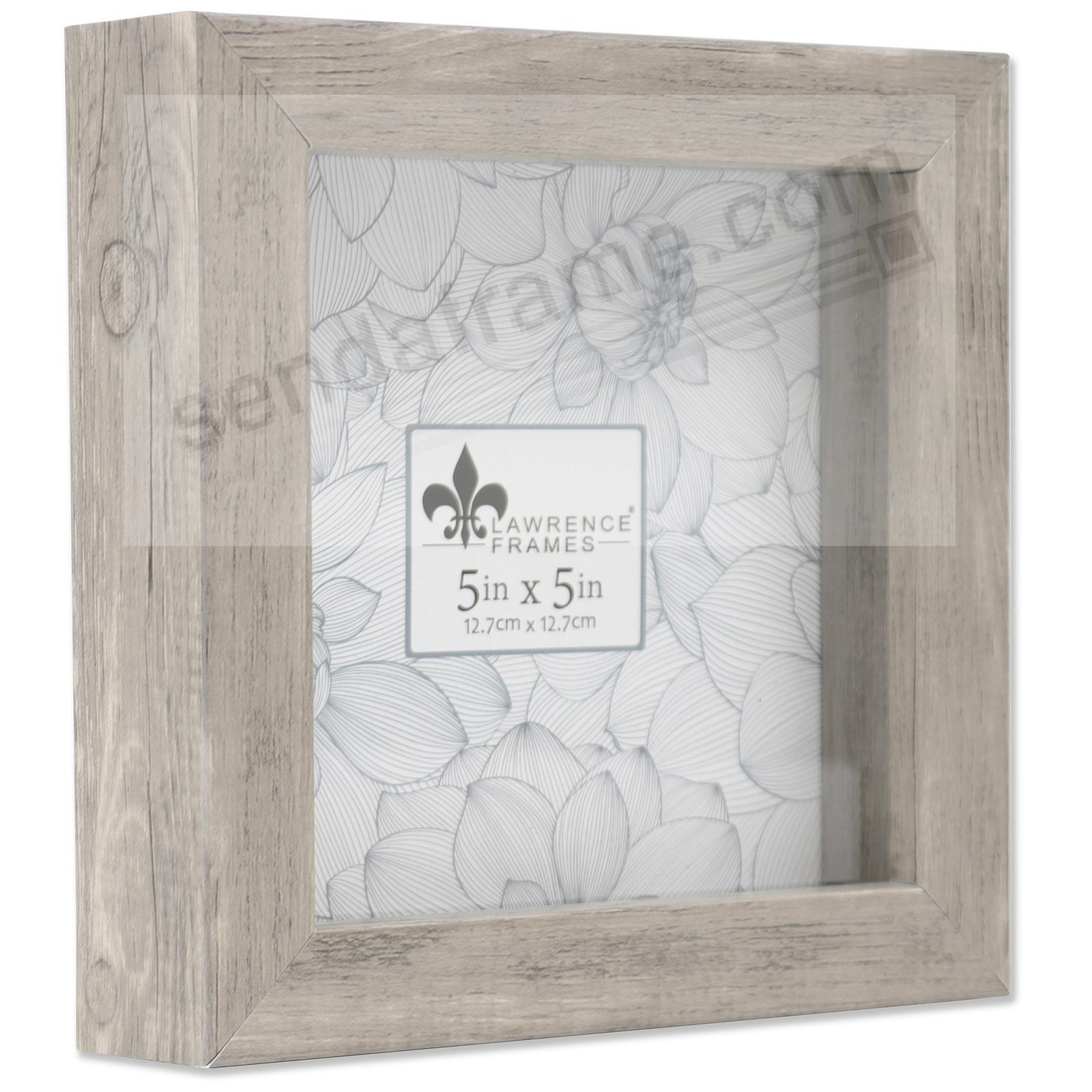 WEATHERED GRAY Trinket Box 5x5 frame ¾in depth by Lawrence®