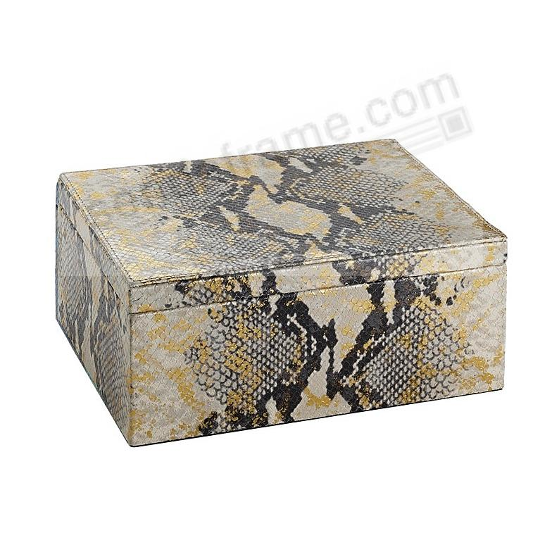 LARGE BOX GOLD WASH EMBOSSED PYTHON Leather by Graphic Image™