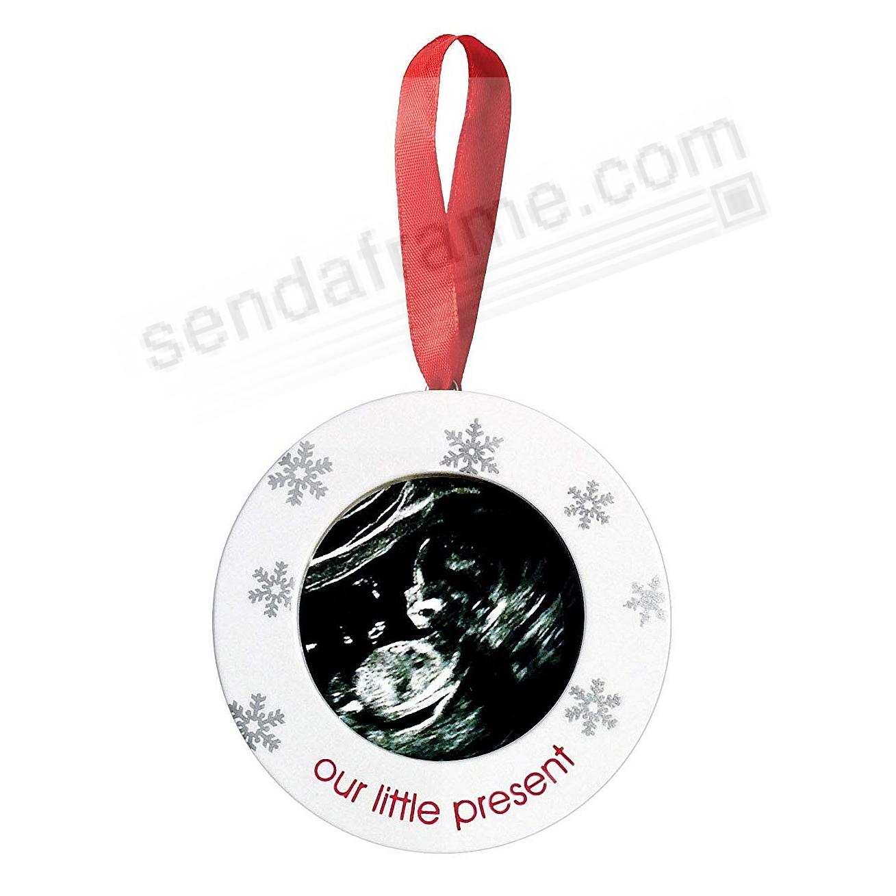 OUR LITTLE PRESENT SONOGRAM ORNAMENT by Pearhead®