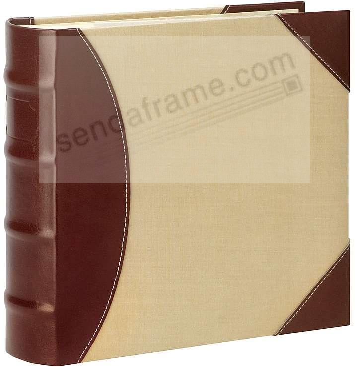 maestro brown leather canvas album by burnes picture