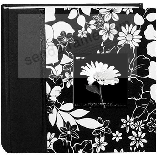 Black & White Fabric Bi-Directional 4x6 2-up frame cover album by Pioneer®