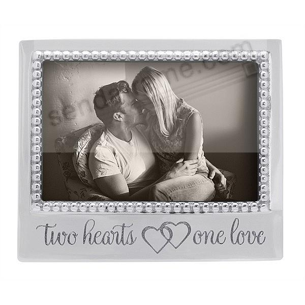 TWO HEARTS / ONE LOVE STATEMENT 6x4 frame by Mariposa®