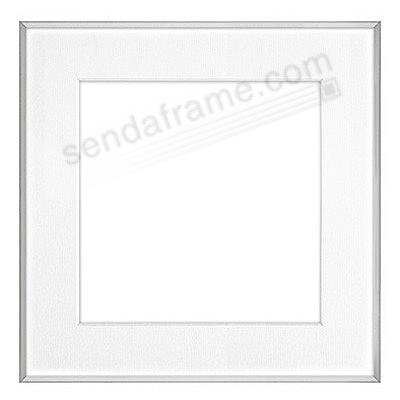 FINELINE Silver Aluminum 5x5/3x3 Matted by Framatic®