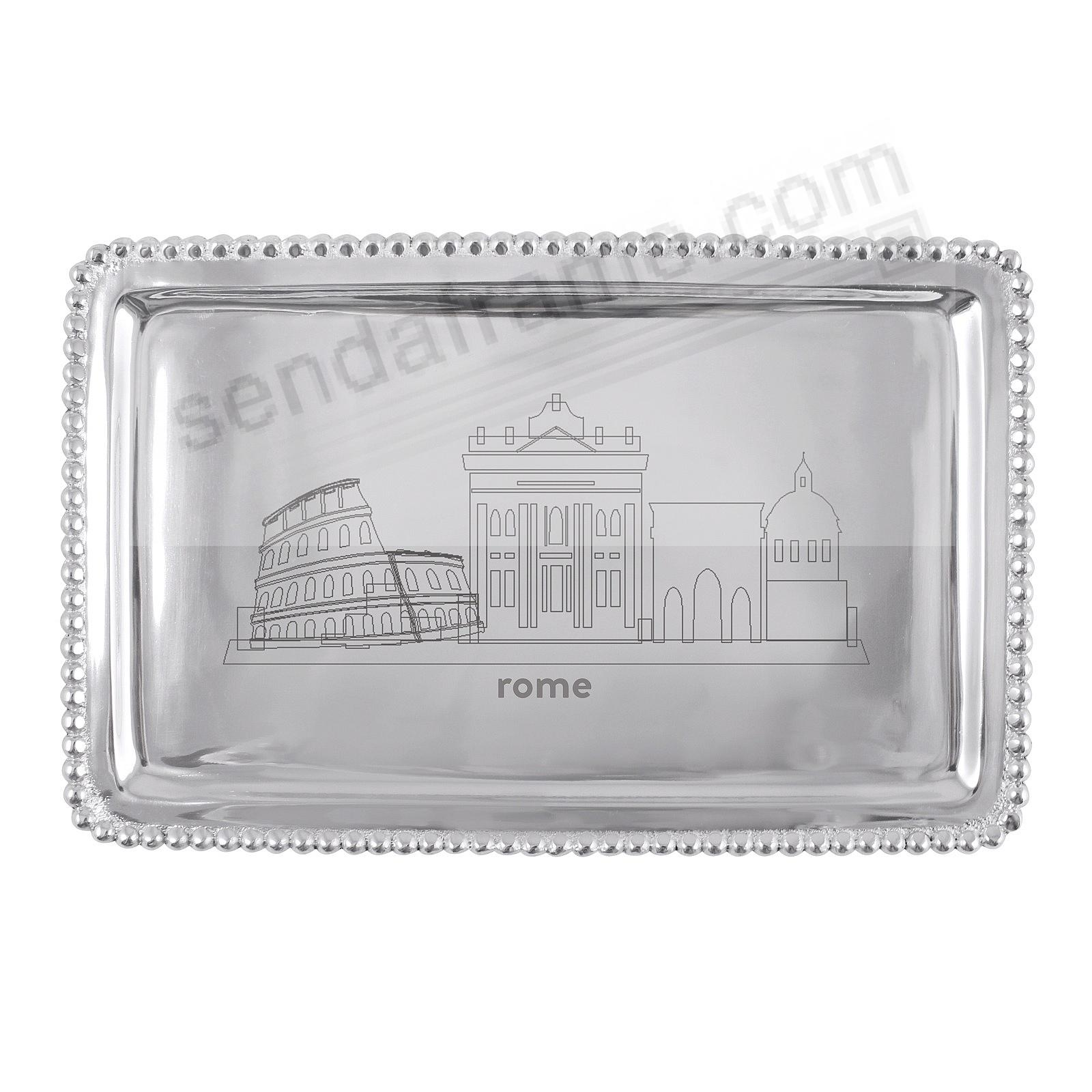 The ROME-ITALY CITYSCAPE BEADED BUFFET TRAY crafted by Mariposa®