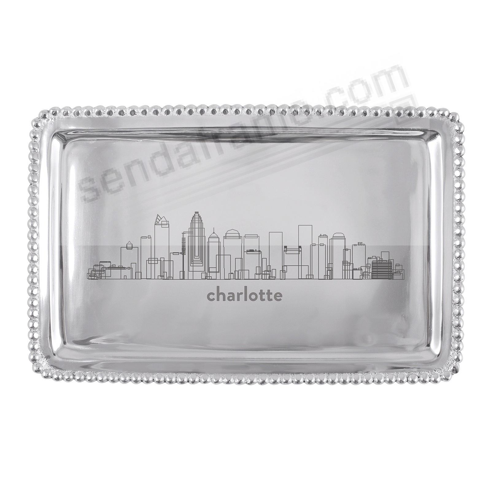 The CHARLOTTE-NC CITYSCAPE BEADED BUFFET TRAY crafted by Mariposa®