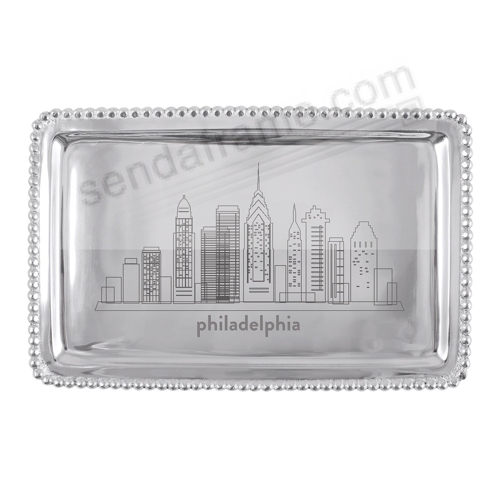 The PHILADELPHIA-PA CITYSCAPE BEADED BUFFET TRAY crafted by Mariposa®