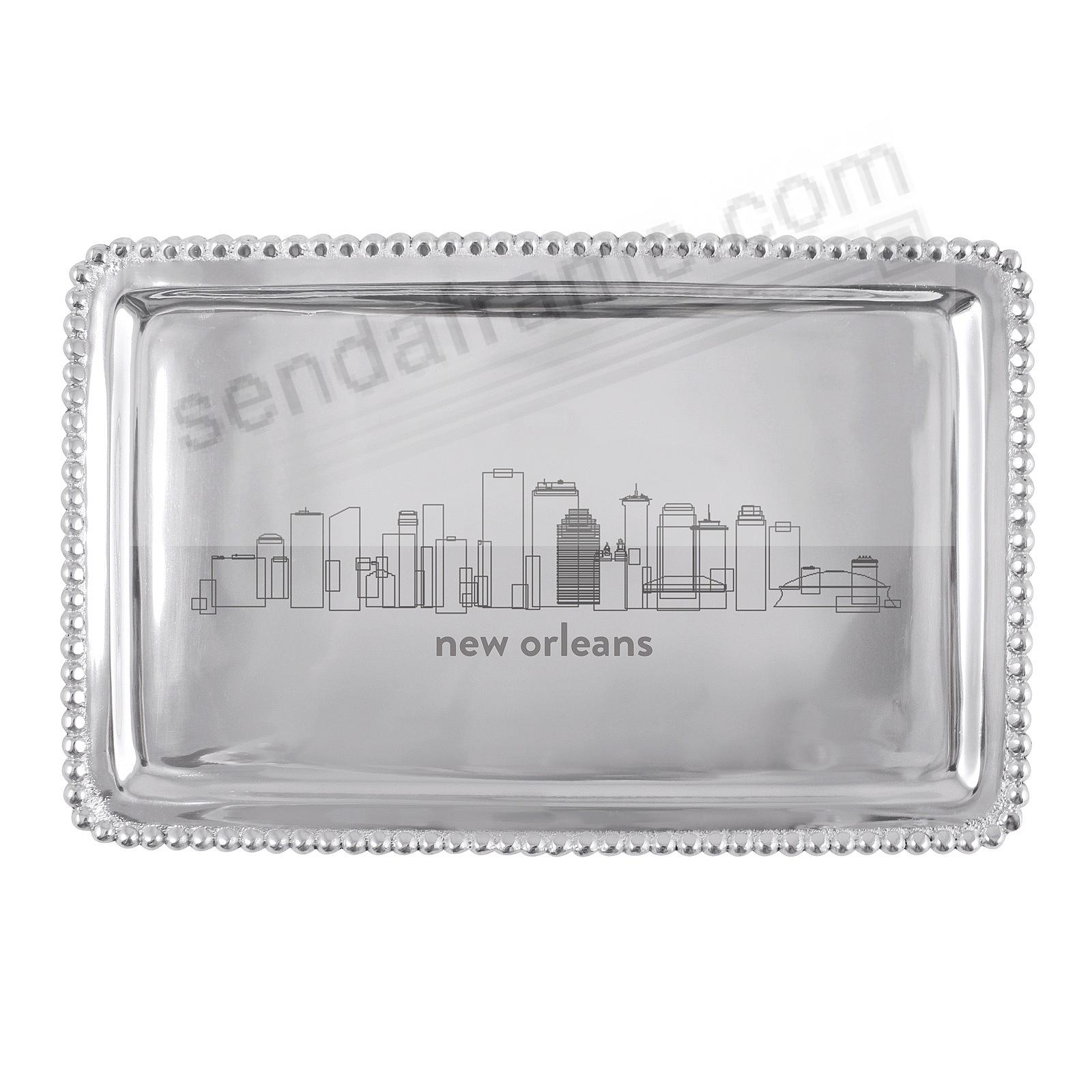 The NEW ORLEANS-LA CITYSCAPE BEADED BUFFET TRAY crafted by Mariposa®