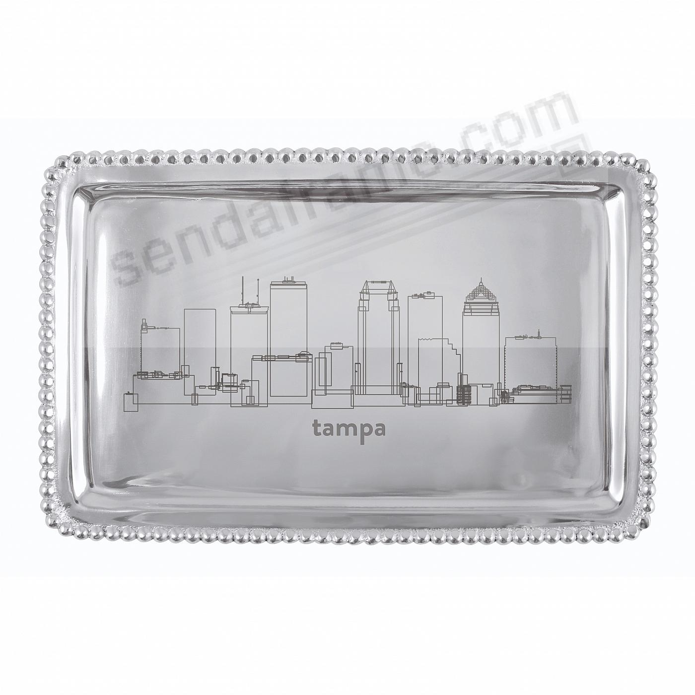 The TAMPA-FLORIDA CITYSCAPE BEADED BUFFET TRAY crafted by Mariposa®
