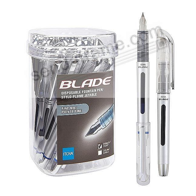 BUY a BUCKET and SAVE - 24 pieces of the BLADE sealed fountain pen - BLACK - by Itoya