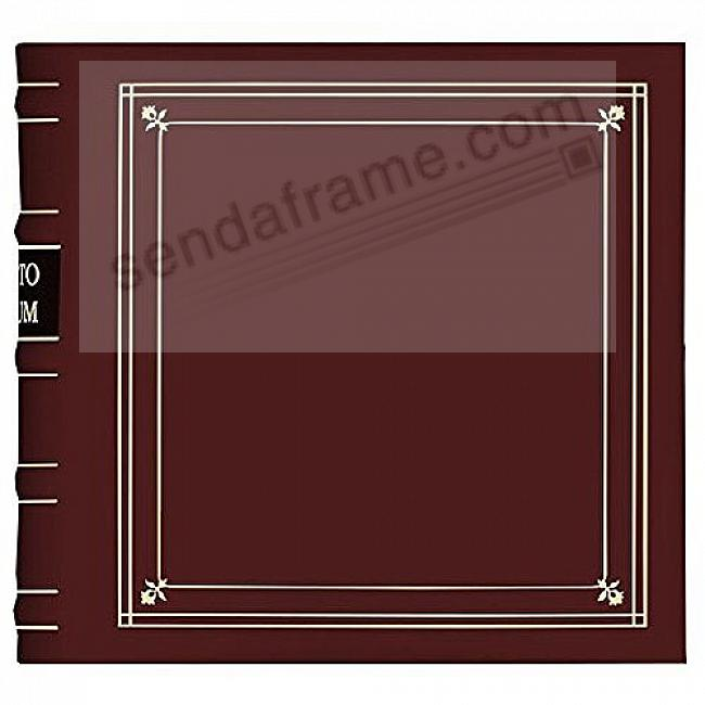 BURGUNDY Leather 3-Ring BI-DIRECTIONAL 200 print / 2up pocket album