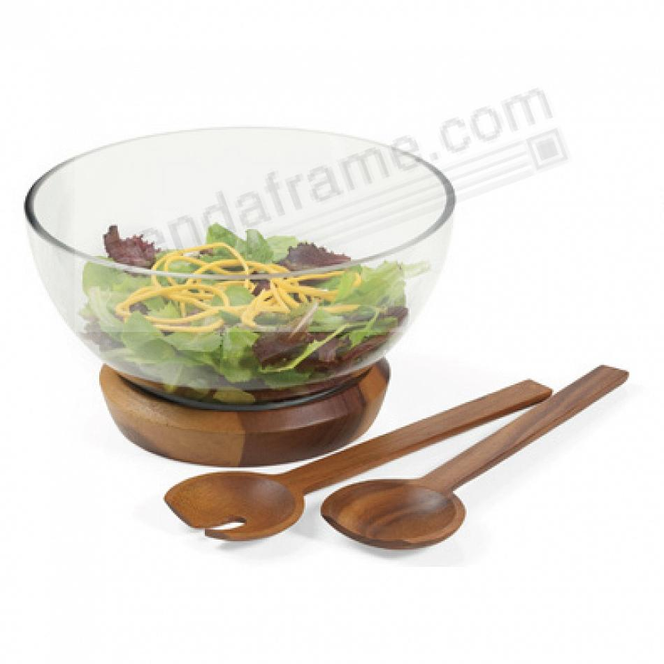 The COOPER SALAD BOWL w/SERVERS by Nambe®