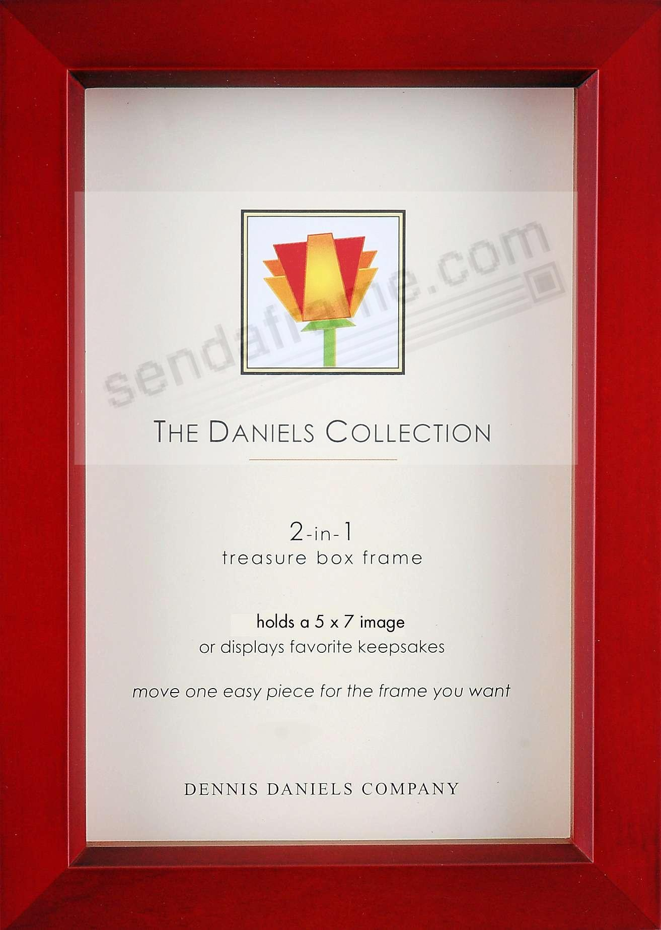 Rosewood stain 5x7 Shadow Box/Print Convertible by Dennis Daniels®
