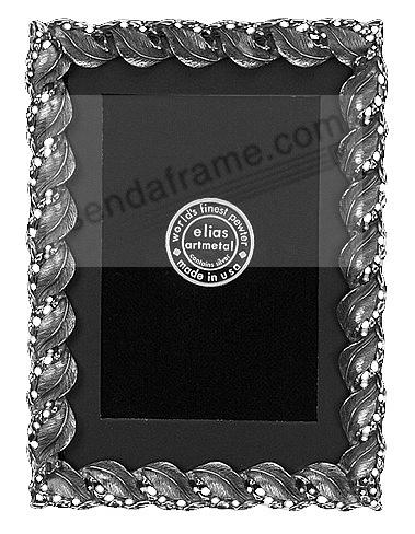 PHILODENDRON Fine Silvered Pewter 4x6/3x5 frame by Elias Artmetal®