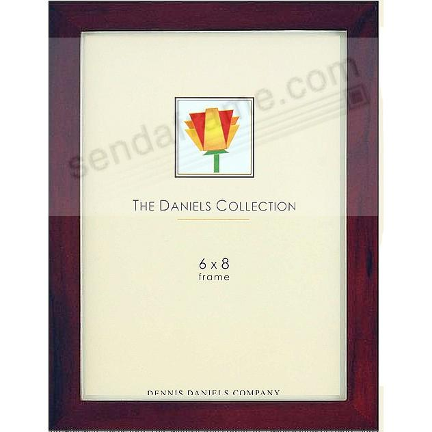 The Original DANIELS W41: Classic square-corner ESSENTIALS in dark walnut-brown stain 6x8 by Dennis Daniels®