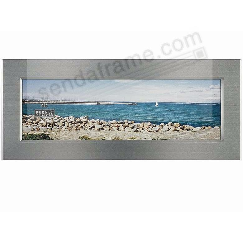 Mystic Matte Silverplate Panoramic Frame By Burnes Of Boston