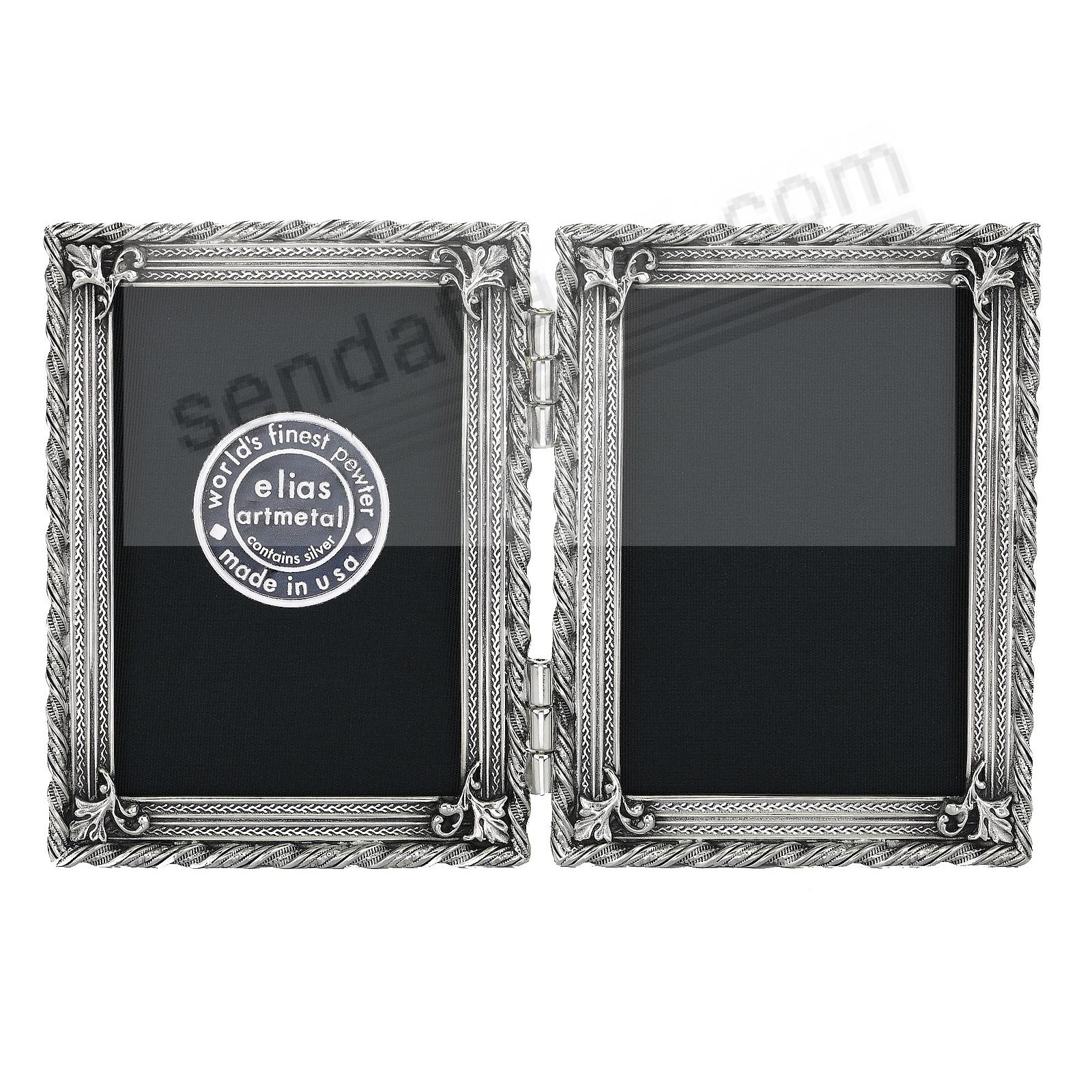 EMPIRE fine Silvered-Pewter Hinged 2½x3½ Double by Elias Artmetal®