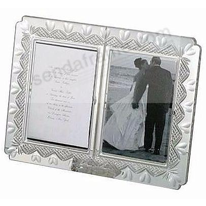 Waterford&reg;<br />WEDDING ANNOUNCEMENT heirloom keepsake frame