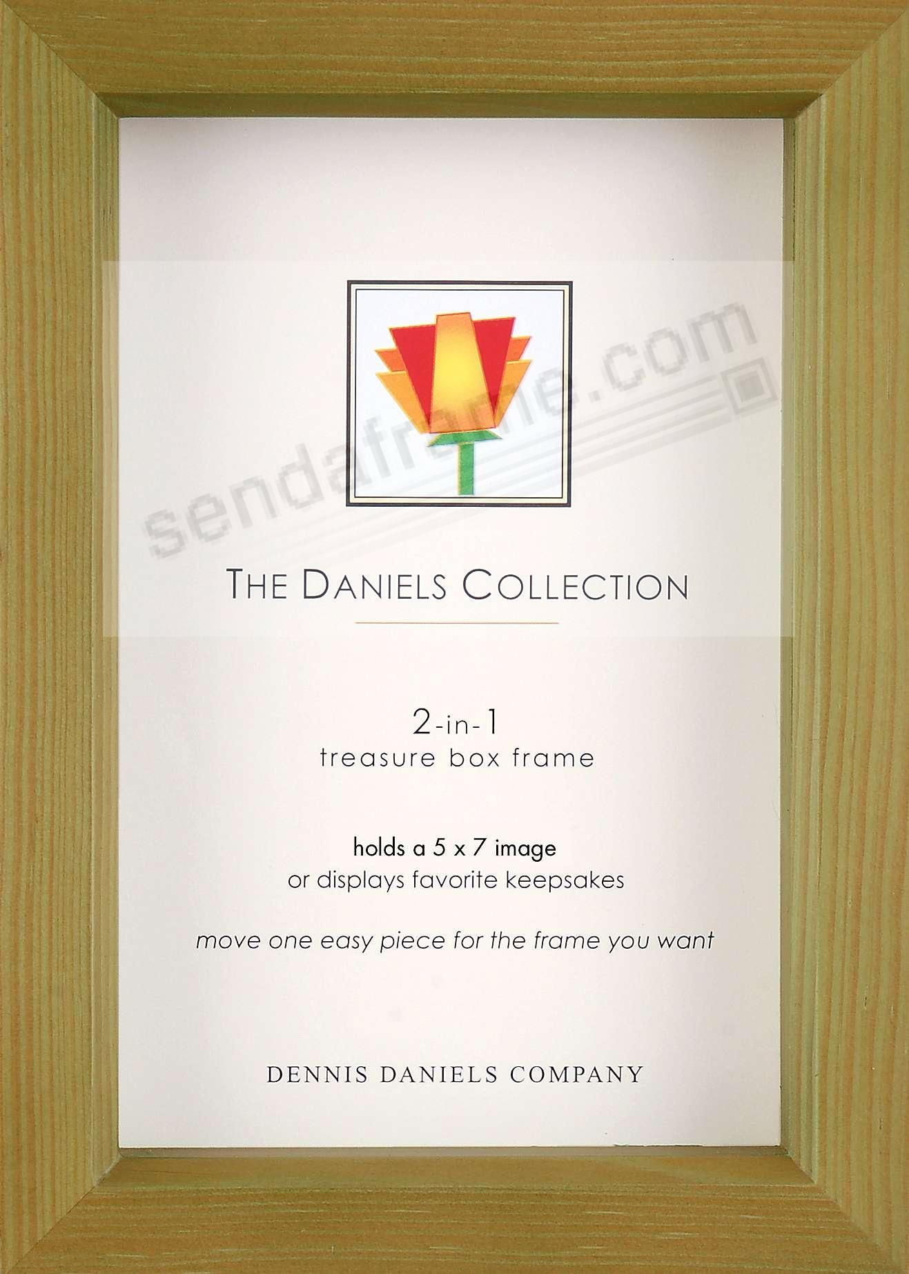 Olive-green 5x7 shadow box ½in deep for your print or collectibles by Dennis Daniels®