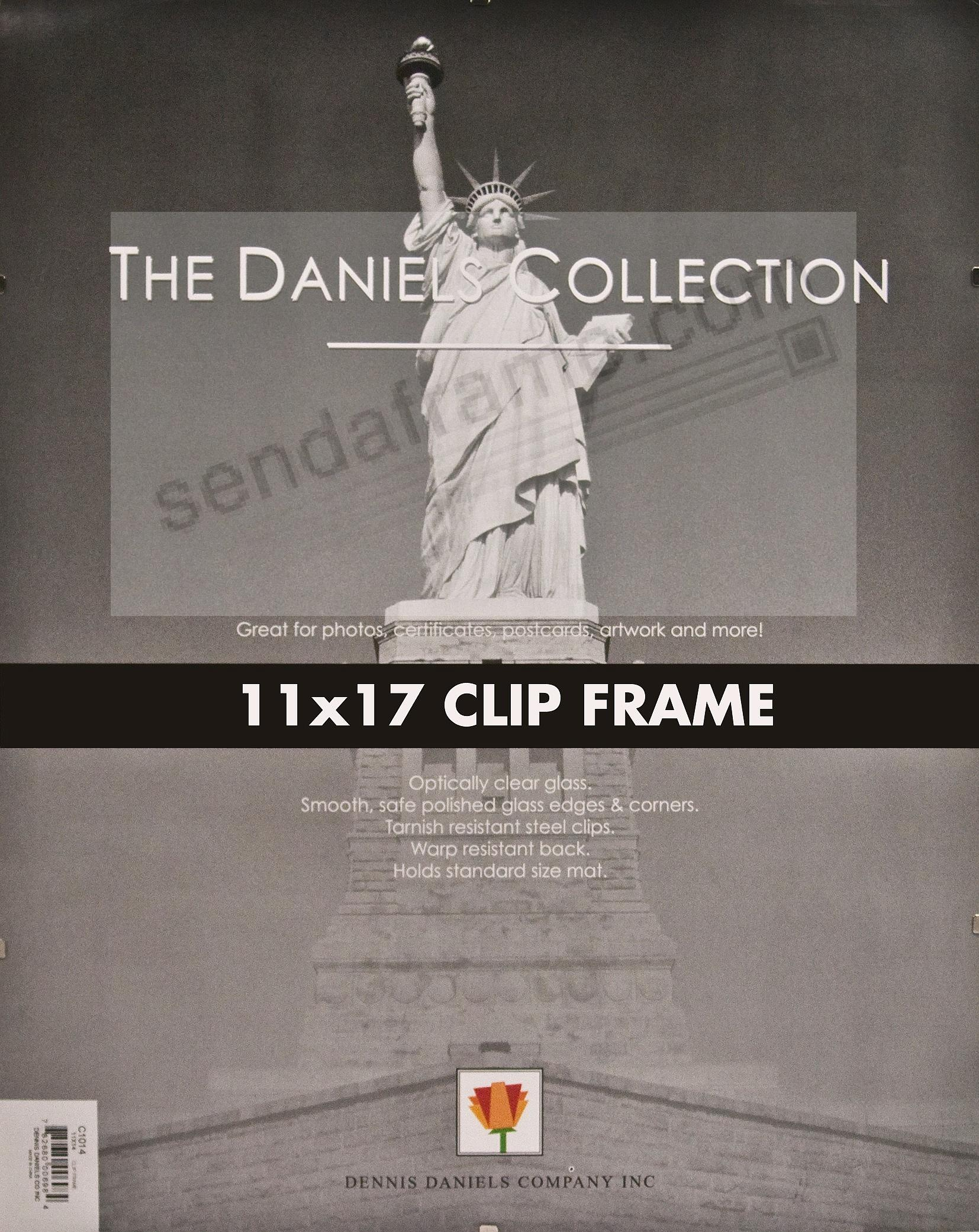 the frameless glass clip 11x17 frame by dennis daniels