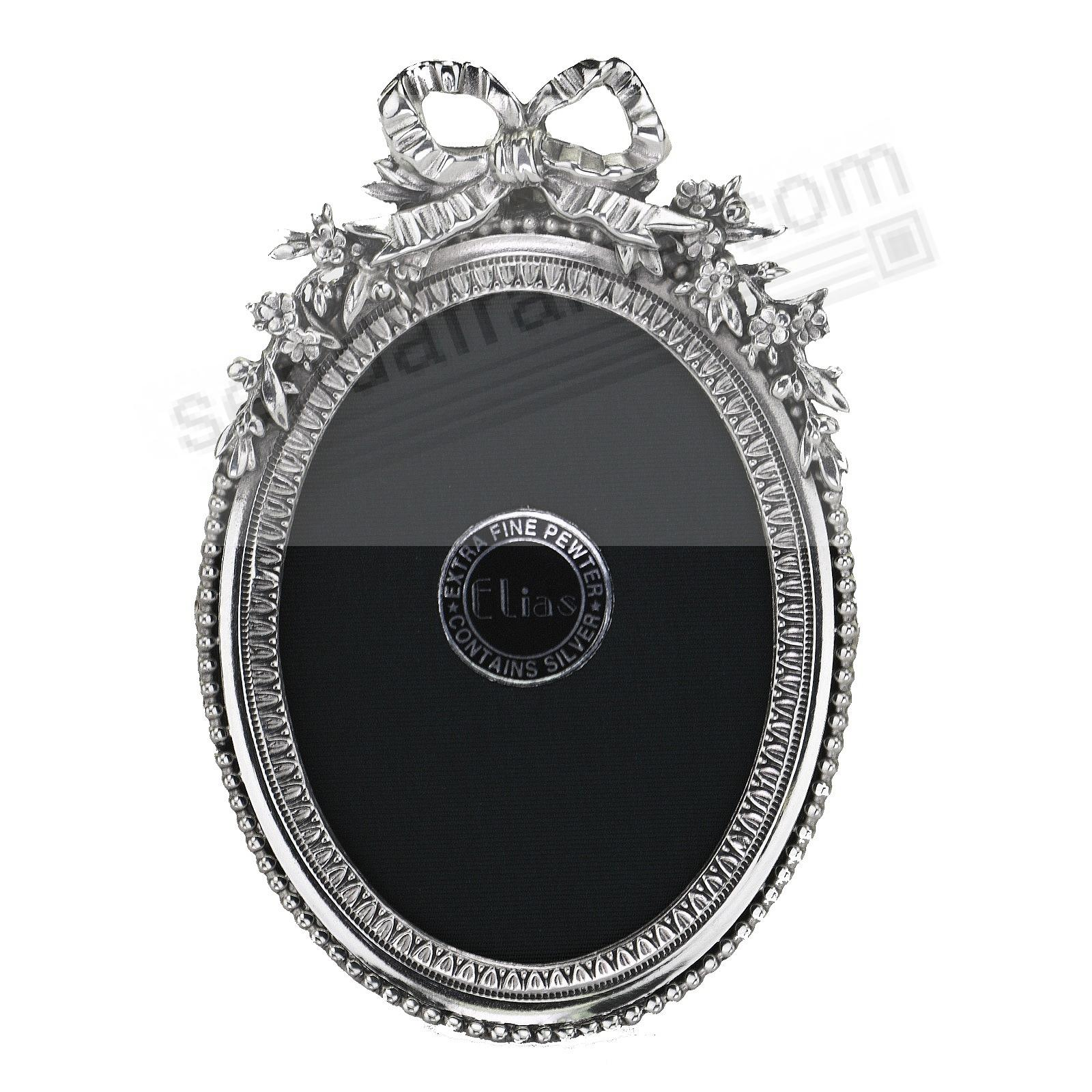 BEADED OVAL & ACANTHUS OGEE fine Silvered Pewter<br>by Elias Artmetal®
