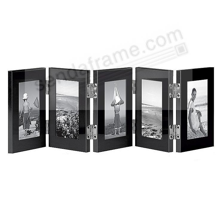 5 opening hinged folding ebony black frame by carr