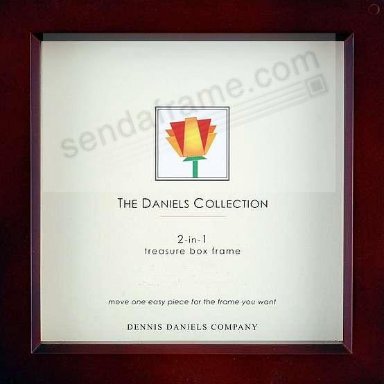Walnut wood stain 12x12 shadow box ½in deep for your print or collectibles by Dennis Daniels®