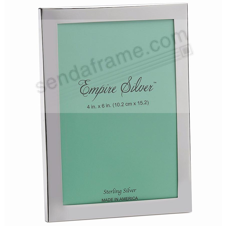 Engraveable solid sterling silver 4x6 frame by the empire for Engraved digital photo frame