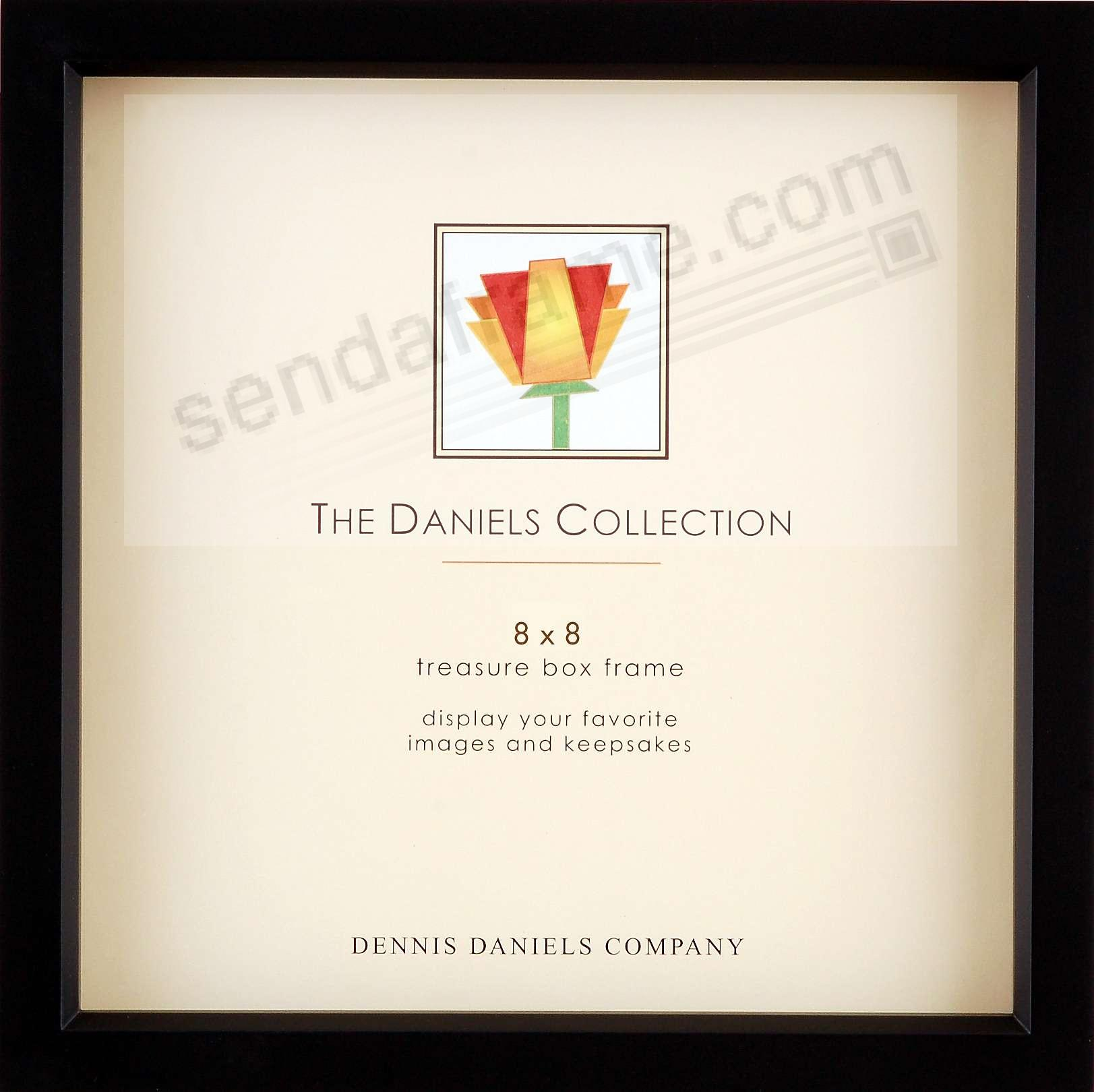 Ebony-Black stain 8x8 Shadow Box ½in deep for your print or collectibles by Dennis Daniels®