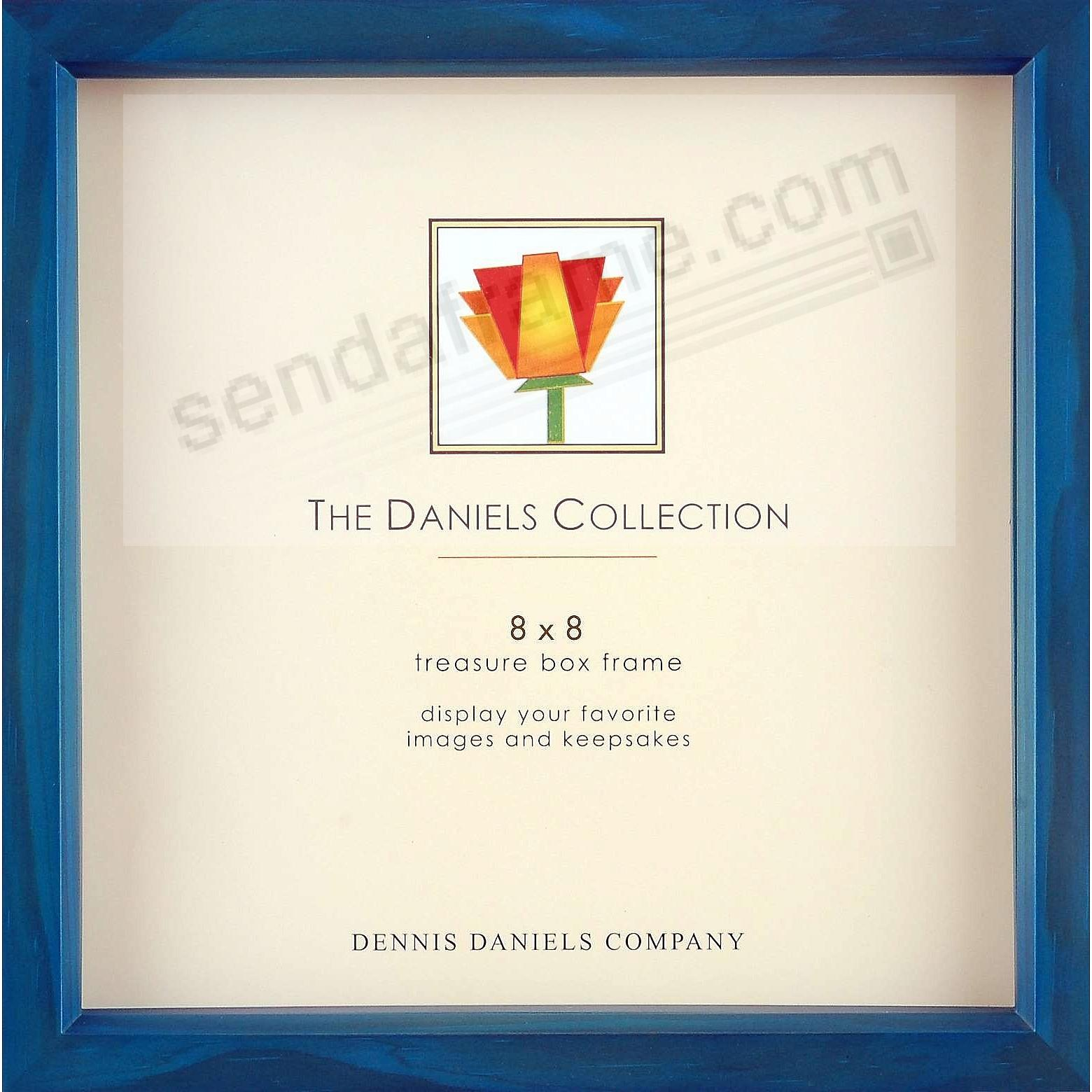 Ocean-Blue stain 8x8 Shadow Box ½in deep for your print or collectibles by Dennis Daniels®