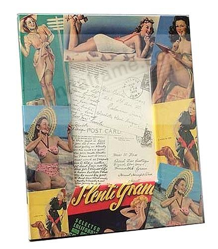 Retro PIN-UP GIRLS frame by Blankety Blank™ Designs