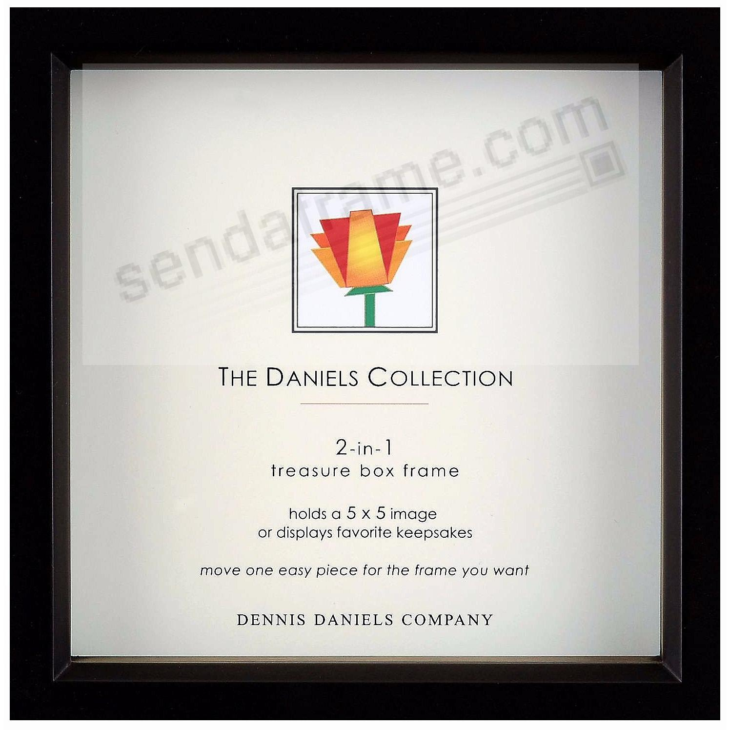 Ebony-Black stain 5x5 shadow box ½in deep for print or collectibles by Dennis Daniels®