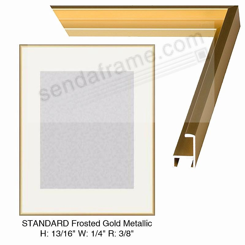 Custom Cut Frosted Gold Metallic H1316 W932 R1332 Picture
