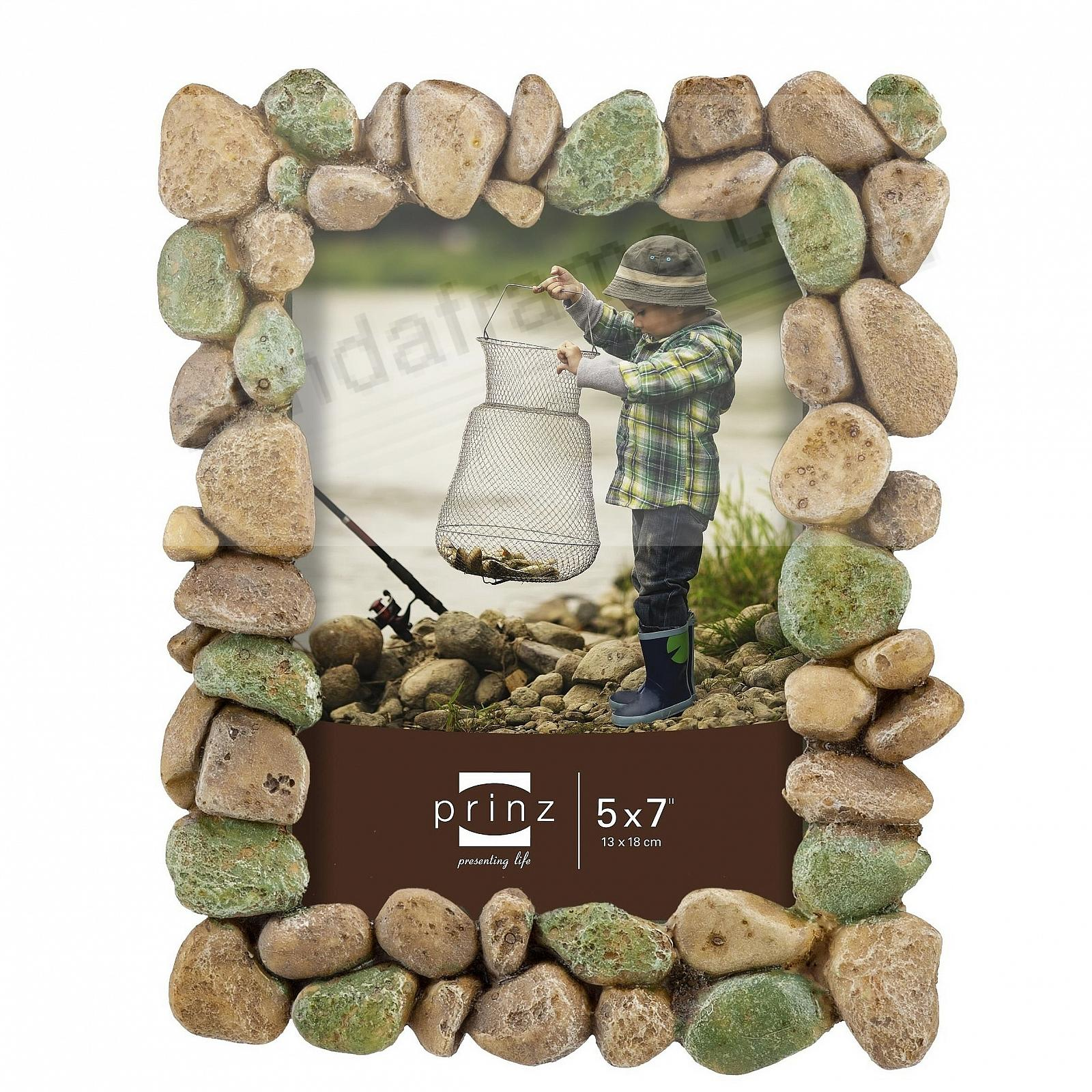 River Rock Rustic Stone 5x7 Frame By Prinz Designs