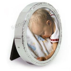 Sterling Silver Round Baby Frame By Lunt Silversmiths Picture