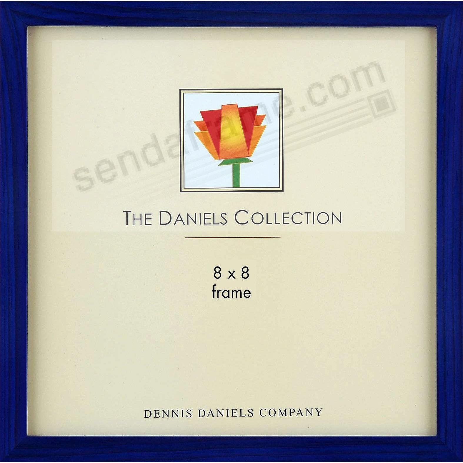 The Original DANIELS W41: Square Corner GALLERY WOODS Blue-Stain finish 8x8 frame by Dennis Daniels®