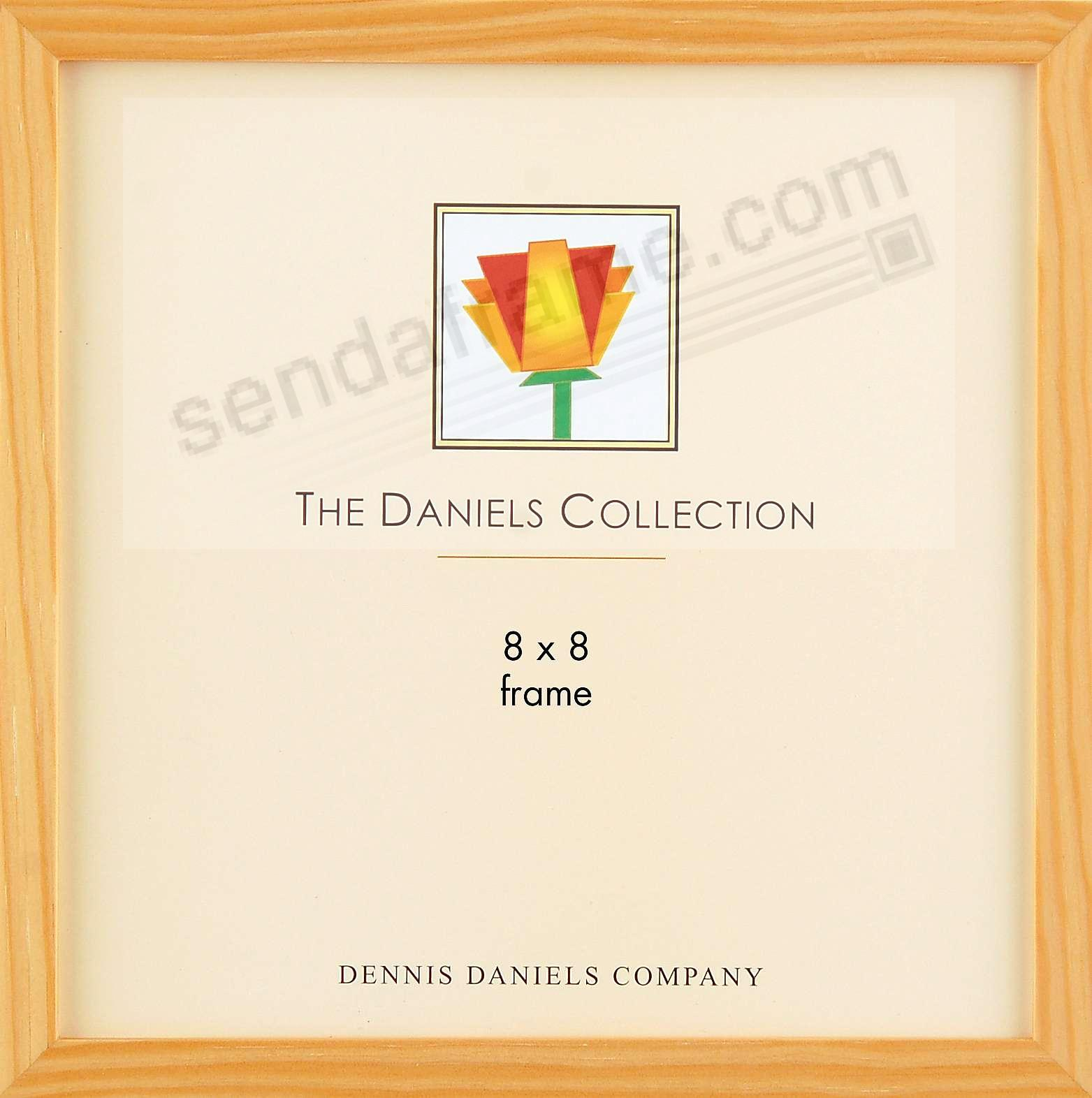 The Original DANIELS W41: Square Corner GALLERY WOODS Natural finish 8x8 frame by Dennis Daniels®