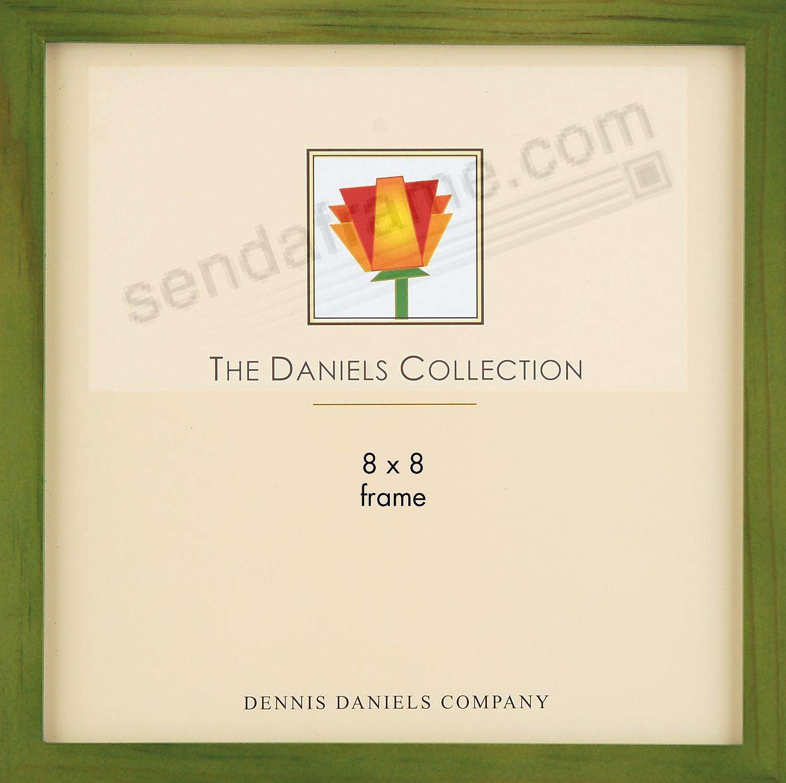 The Original DANIELS W41: Square Corner GALLERY WOODS Green-Stained Oak finish 8x8 frame by Dennis Daniels®