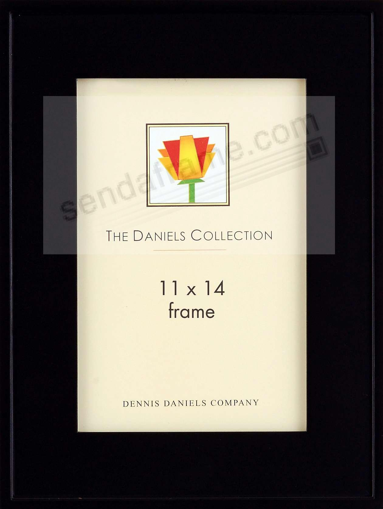 ONE-STEP gallery style frame in ebony-black stain by Dennis Daniels®