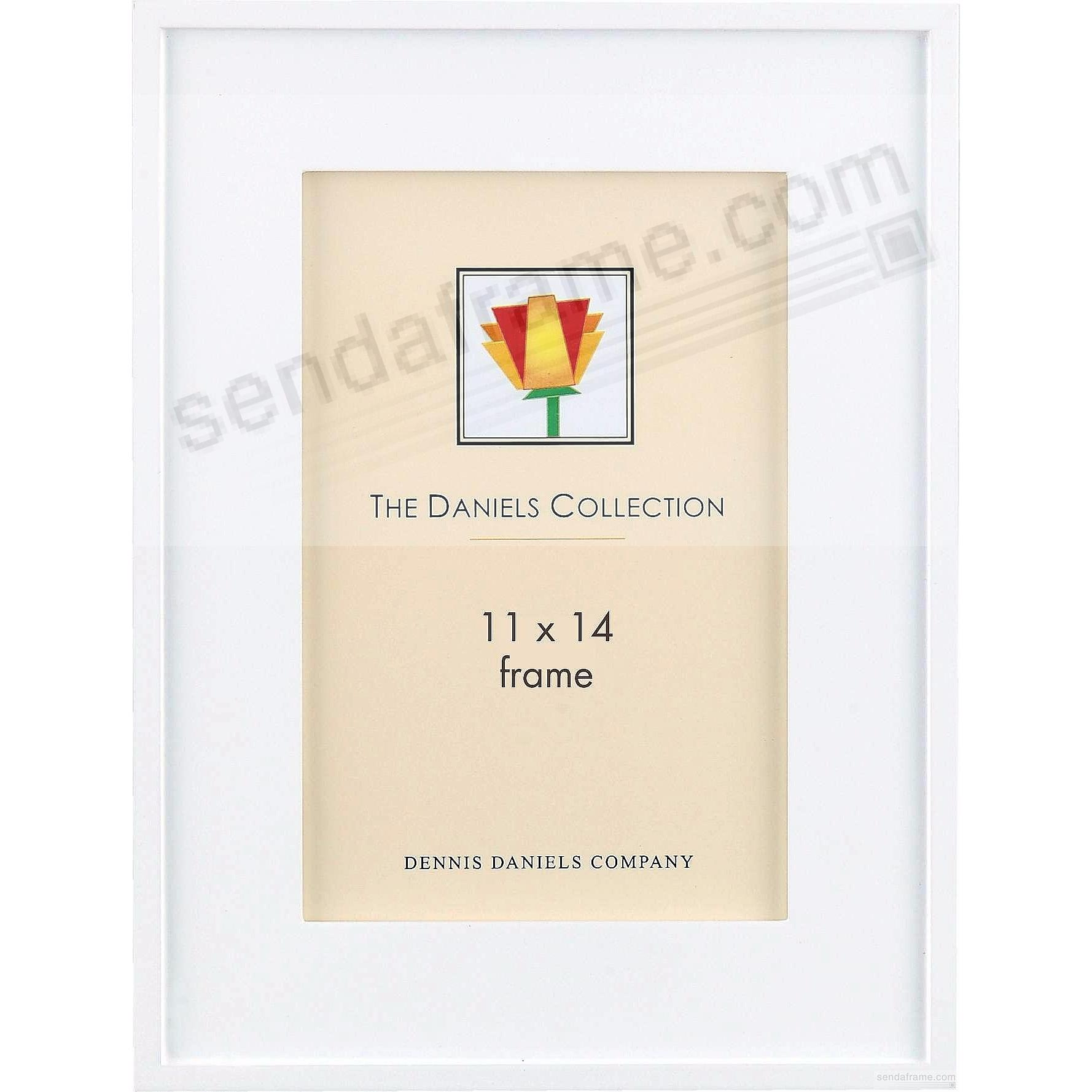 ONE-STEP gallery style frame in white-stain by Dennis Daniels®