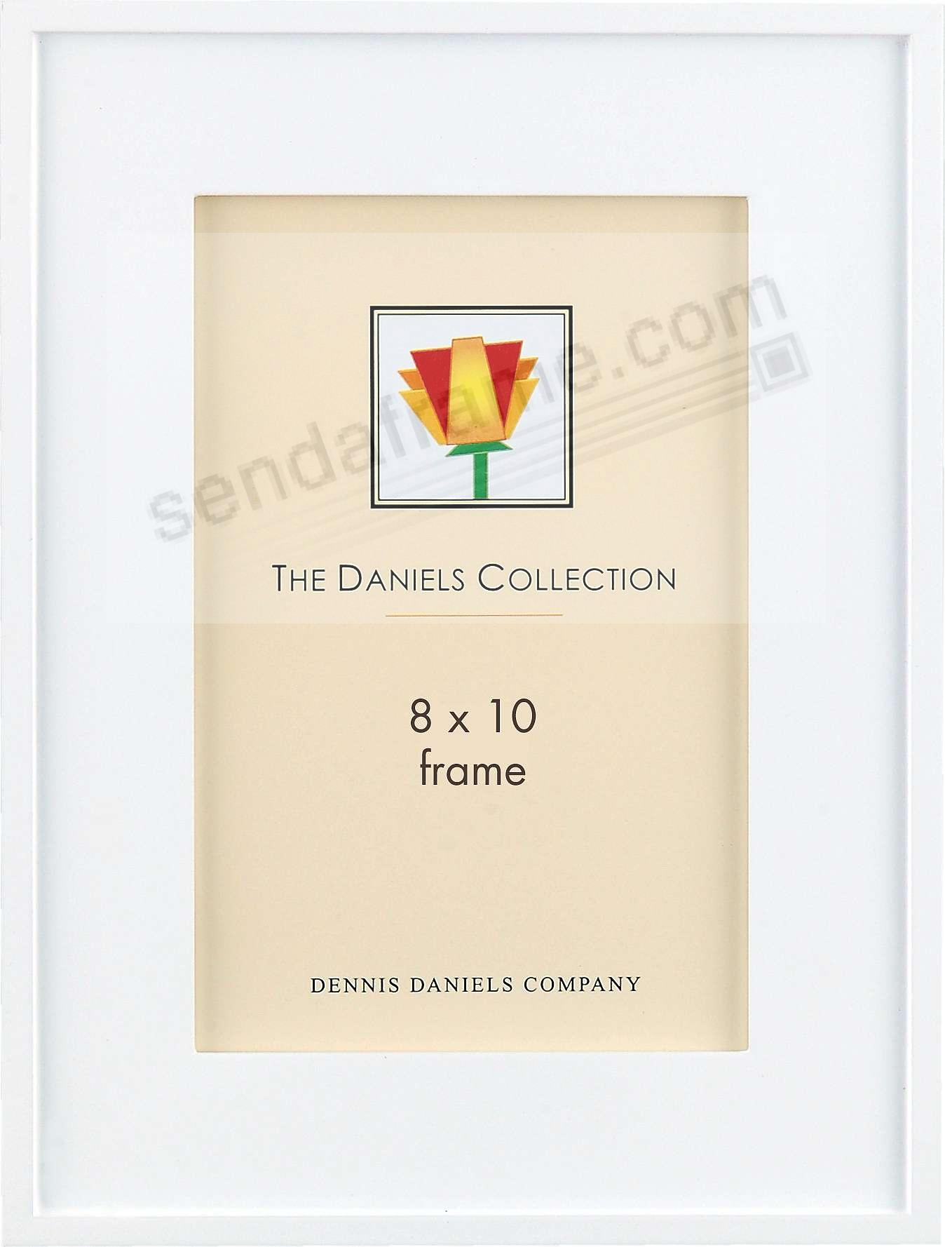 ONE-STEP Gallery Style 8x10 frame White-stain by Dennis Daniels®