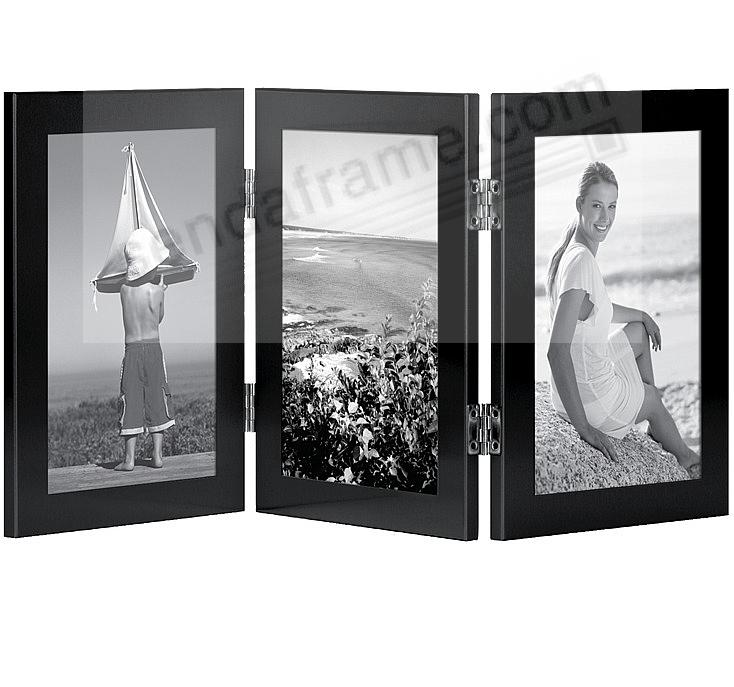 3 opening hinged folding frame by carr in ebony black picture