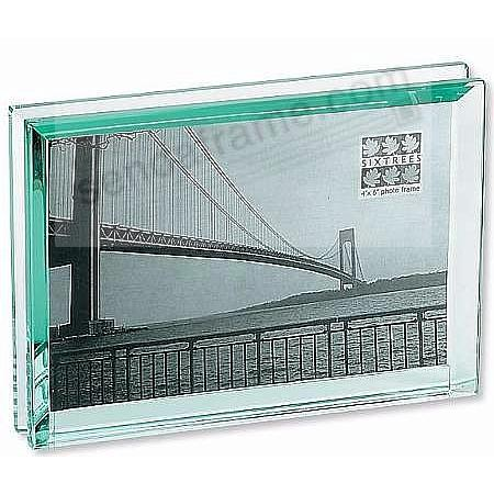 EMERALD bevelled 7x5 glass block \'floats\' your photo - Picture ...